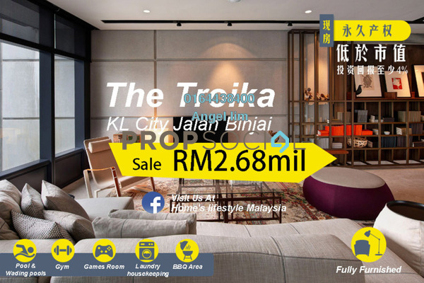 For Sale Condominium at The Troika, KLCC Freehold Fully Furnished 4R/4B 2.68m
