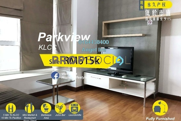 For Sale Condominium at Park View, KLCC Freehold Fully Furnished 1R/1B 615k