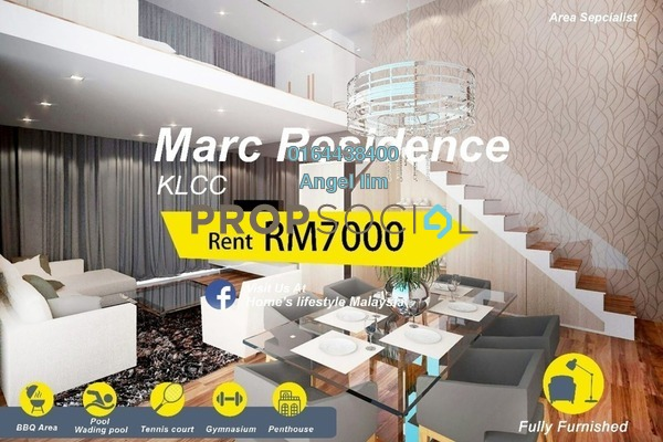 For Rent Condominium at Marc Service Residence, KLCC Freehold Fully Furnished 1R/2B 7k