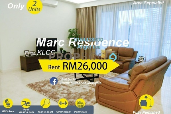 For Rent Condominium at Marc Service Residence, KLCC Freehold Fully Furnished 5R/5B 26k