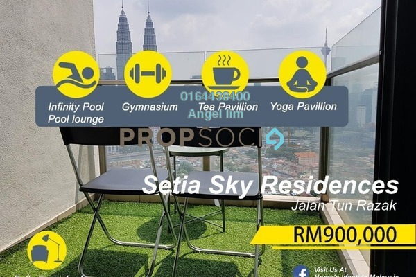 For Sale Condominium at Setia Sky Residences, KLCC Freehold Fully Furnished 2R/2B 900k