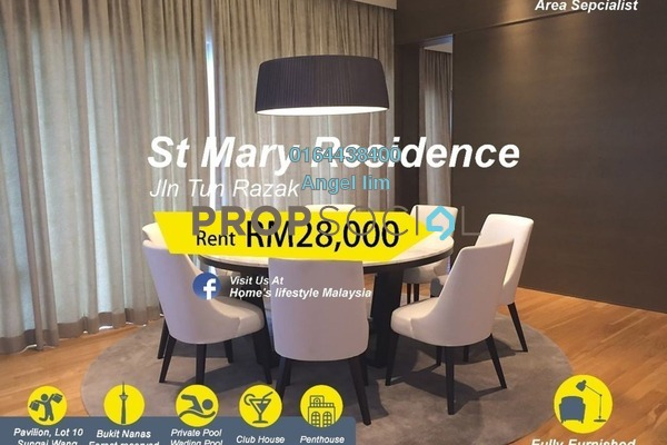 For Rent Condominium at St Mary Residences, KLCC Freehold Fully Furnished 6R/6B 28k