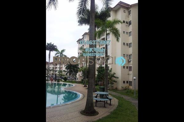 For Sale Apartment at Pelangi Court, Klang Freehold Semi Furnished 4R/3B 268k