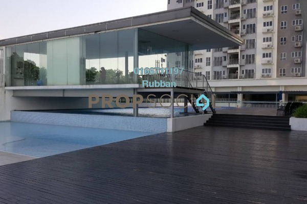For Rent Condominium at The Wharf, Puchong Freehold Semi Furnished 3R/2B 1.2k