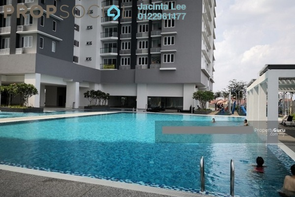 For Sale Condominium at Aurora Residence @ Lake Side City, Puchong Leasehold Semi Furnished 3R/2B 365k