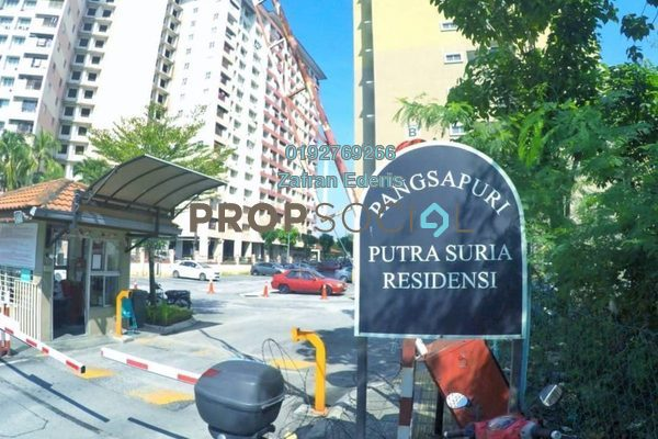 For Sale Apartment at Putra Suria Residence, Bandar Sri Permaisuri Freehold Unfurnished 3R/2B 340k
