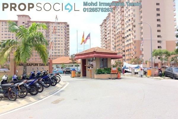 For Sale Apartment at Damai Apartment U4, Shah Alam Leasehold Unfurnished 3R/2B 300k