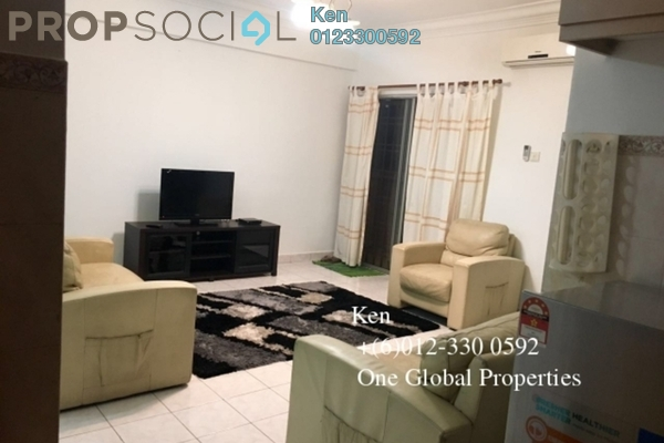 For Rent Condominium at Pelangi Damansara, Bandar Utama Freehold Fully Furnished 3R/2B 1.7k