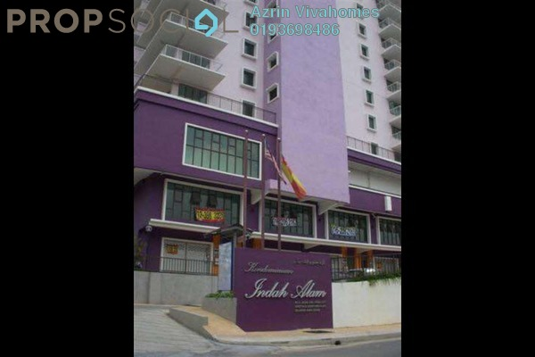 For Sale Condominium at Indah Alam, Shah Alam Freehold Semi Furnished 4R/2B 530k
