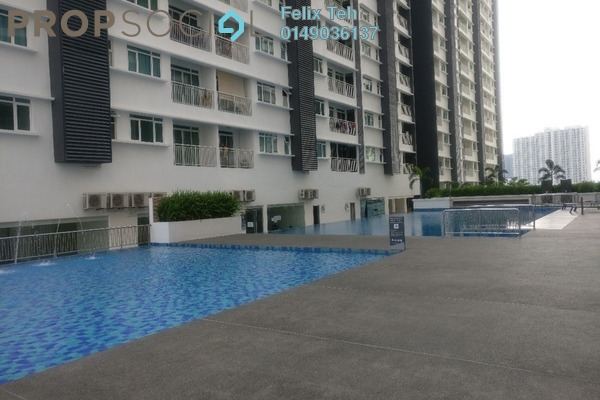 For Sale Condominium at V-Residensi 2, Shah Alam Freehold Semi Furnished 3R/3B 550k