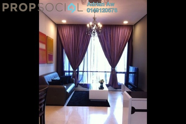 For Rent Condominium at Soho Suites, KLCC Freehold Semi Furnished 1R/1B 3.2k
