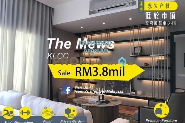 For Sale Condominium at The Mews, KLCC Freehold Fully Furnished 4R/4B 3.8m