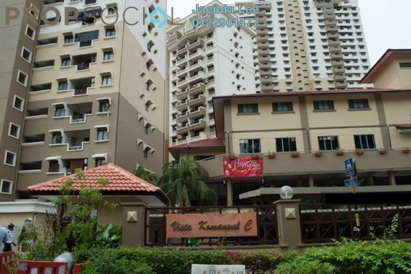 For Sale Condominium at Vista Komanwel, Bukit Jalil Freehold Semi Furnished 3R/2B 405k