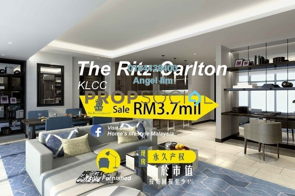 For Sale Condominium at The Ritz-Carlton Residences, KLCC Freehold Fully Furnished 2R/2B 3.7m