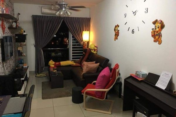 For Rent Condominium at Taman Mount Austin, Tebrau Freehold Fully Furnished 2R/1B 1.35k