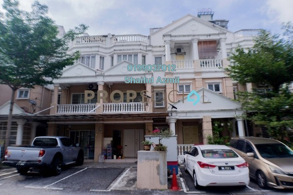For Sale Townhouse at Sommerset Close, Bandar Sri Permaisuri Freehold Semi Furnished 3R/4B 750k