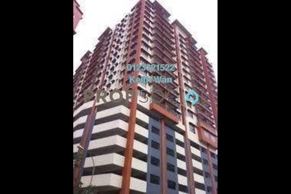 For Rent Condominium at Diamond Regency, Setapak Freehold Semi Furnished 3R/2B 1.4k