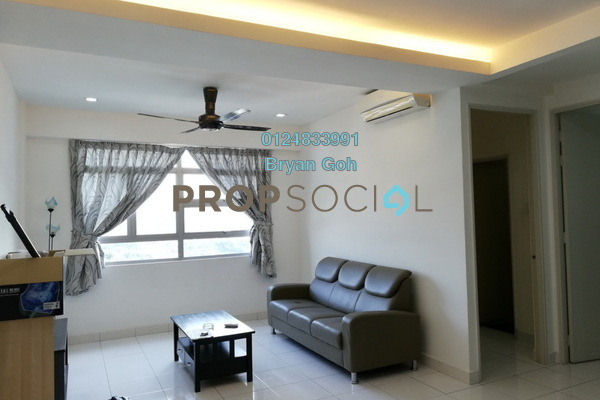 For Rent Apartment at The Oasis, Gelugor Freehold Fully Furnished 3R/2B 1.3k