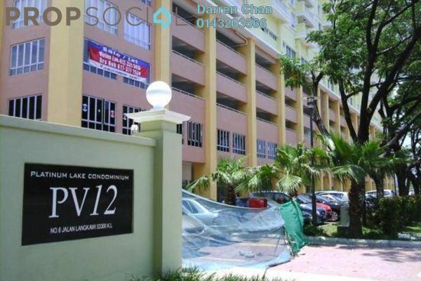 For Rent Condominium at Platinum Lake PV12, Setapak Freehold Fully Furnished 3R/2B 1.7k