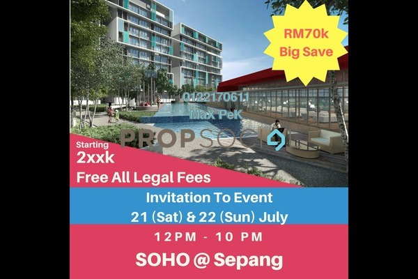 For Sale SoHo/Studio at Core SoHo Suites, Sepang Freehold Semi Furnished 1R/1B 238k