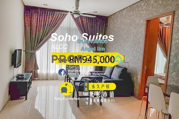 For Sale Condominium at Soho Suites, KLCC Freehold Fully Furnished 2R/1B 945k