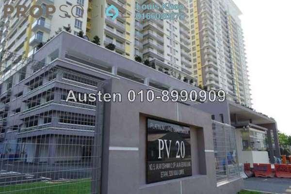 For Sale Condominium at Platinum Lake PV20, Setapak Freehold Semi Furnished 3R/2B 480k