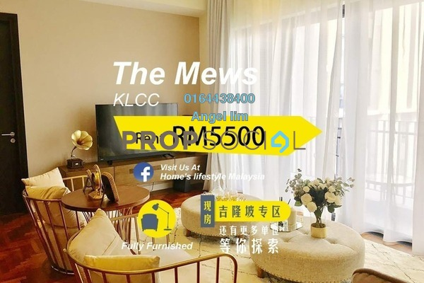 For Rent Condominium at The Mews, KLCC Freehold Fully Furnished 3R/3B 5.5k