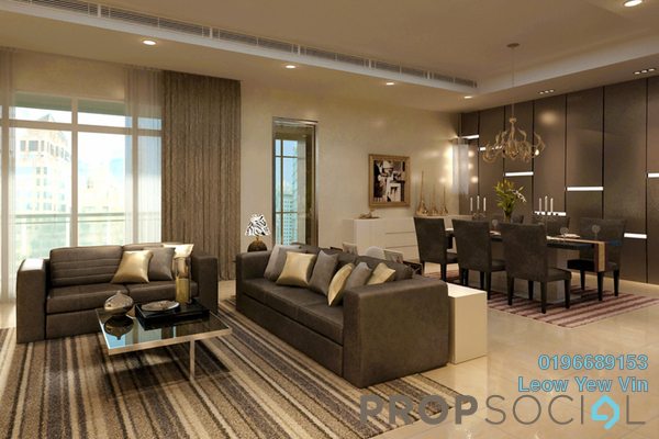 For Sale Serviced Residence at K Residence, KLCC Freehold Semi Furnished 4R/4B 3.6m