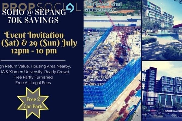 For Sale SoHo/Studio at Kota Warisan, Sepang Freehold Semi Furnished 1R/1B 241k