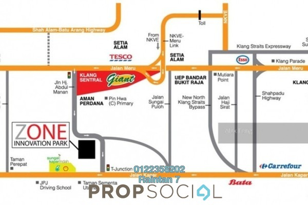 For Sale Factory at Nouvelle Industrial Park @ Meru, Klang Freehold Unfurnished 0R/4B 2.28m