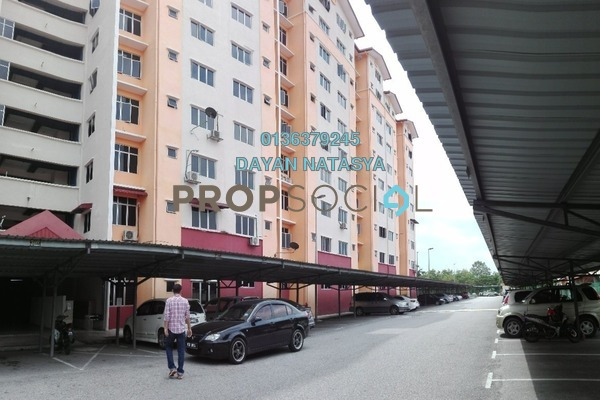 For Sale Apartment at Melor Apartment, Kajang Freehold Semi Furnished 3R/2B 250k