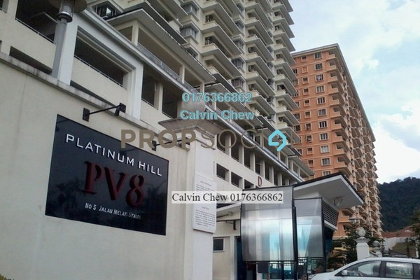 For Sale Condominium at Platinum Hill PV8, Setapak Freehold Unfurnished 3R/0B 644k