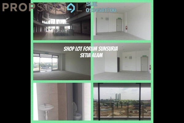 For Rent Shop at Sunsuria Forum, Setia Alam Freehold Unfurnished 0R/1B 1.5k