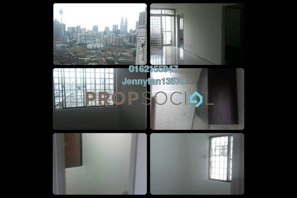 For Rent Condominium at Kenanga Point, Pudu Freehold Semi Furnished 3R/2B 1.4k
