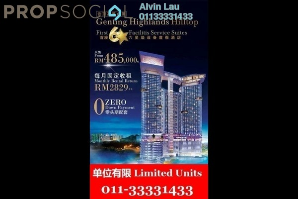 For Sale Condominium at Grand Ion Majestic, Genting Highlands Freehold Fully Furnished 1R/1B 487k