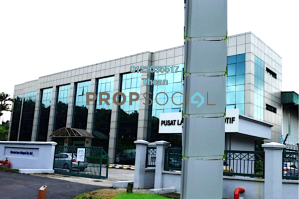 For Rent Factory at Hicom Glenmarie, Glenmarie Freehold Semi Furnished 0R/0B 115k
