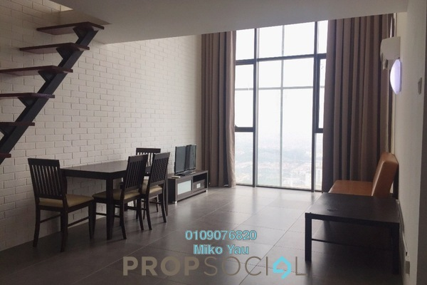 For Rent Duplex at Empire Damansara, Damansara Perdana Freehold Fully Furnished 1R/2B 1.6k