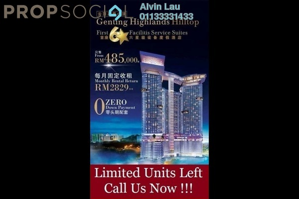 For Sale Serviced Residence at Grand Ion Majestic, Genting Highlands Freehold Fully Furnished 1R/1B 488k