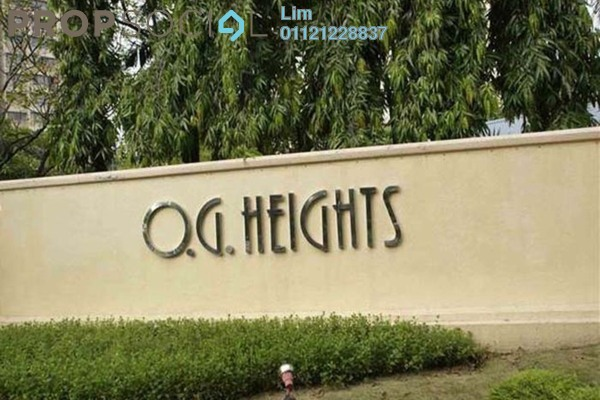 For Sale Condominium at OG Heights, Old Klang Road Freehold Semi Furnished 2R/1B 320k