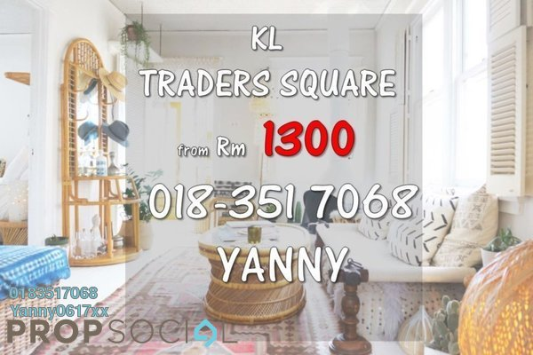 For Rent Serviced Residence at KL Traders Square, Kuala Lumpur Freehold Semi Furnished 3R/2B 1.4k