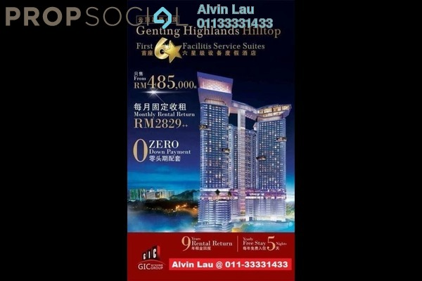For Sale Serviced Residence at Grand Ion Majestic, Genting Highlands Freehold Fully Furnished 1R/1B 487k