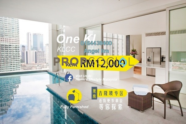 For Rent Condominium at One KL, KLCC Freehold Fully Furnished 4R/4B 12k