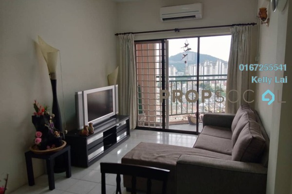 For Rent Condominium at Ixora Apartment, Kepong Freehold Semi Furnished 3R/2B 1.2k
