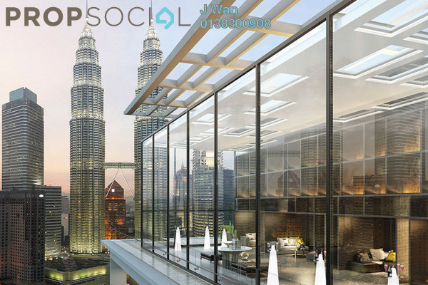 For Sale Serviced Residence at Aria, KLCC Freehold Fully Furnished 3R/3B 1.9m