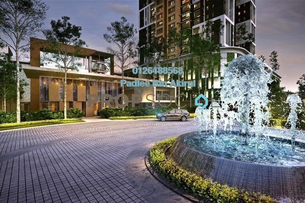 For Sale Condominium at Lake Point Residence, Cyberjaya Freehold Semi Furnished 3R/2B 503k