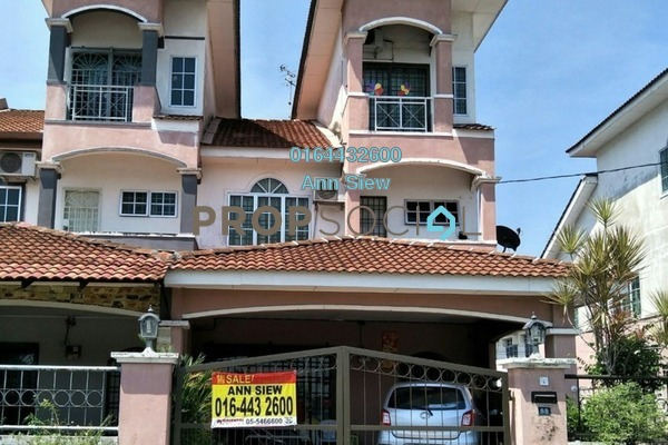 For Sale Terrace at Anjung Bercham Megah, Ipoh Freehold Semi Furnished 4R/3B 370k