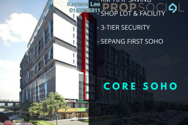 For Sale SoHo/Studio at Core SoHo Suites, Sepang Freehold Semi Furnished 1R/1B 238k