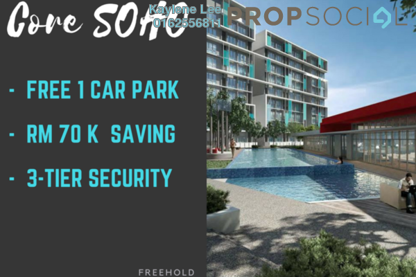 For Sale SoHo/Studio at Core SoHo Suites, Sepang Freehold Semi Furnished 1R/1B 241k