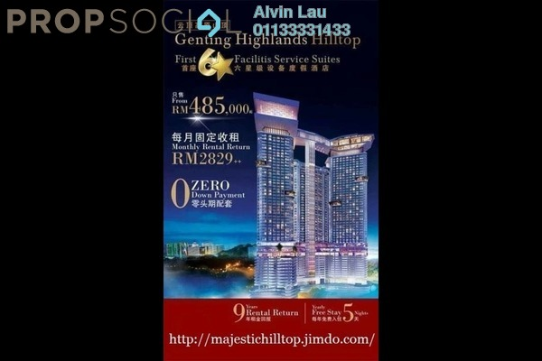 For Sale Condominium at Grand Ion Majestic, Genting Highlands Freehold Fully Furnished 1R/2B 485k