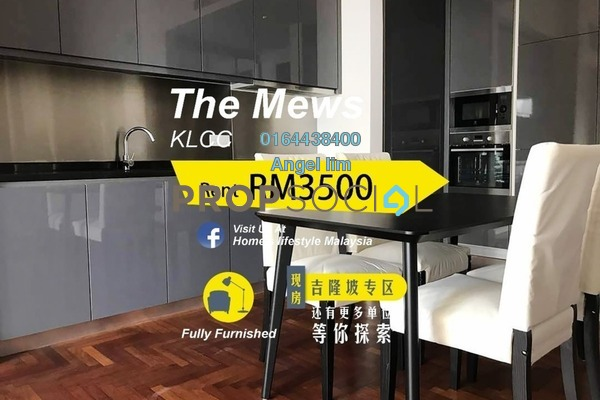 For Rent Condominium at The Mews, KLCC Freehold Fully Furnished 1R/1B 3.5k